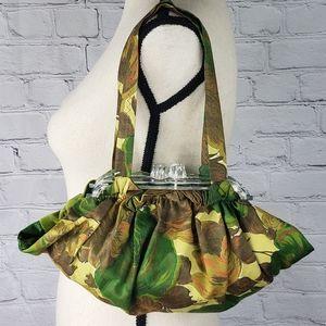 VTG 1940s Lucite Framed Fabric Purse